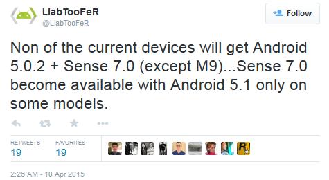 HTC atualizará sua linha direto para o Lollipop 5.1