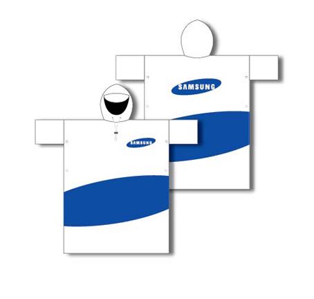 Áo mưa in logo quảng cáo samsung