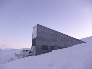 Doomsday seed vault from a side