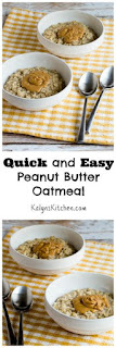 Quick and Easy Peanut Butter Oatmeal (Vegan, Gluten-Free, Dairy-Free, South Beach Diet) [from KalynsKitchen.com]