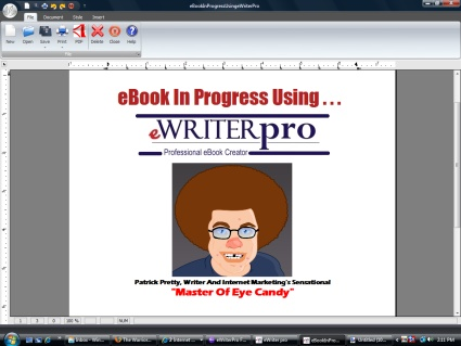 ewriterpro demonstration by Patrick Pretty