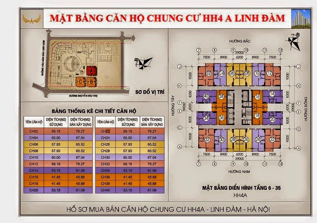 Chung cư HH4A Linh Đàm - 0917078221