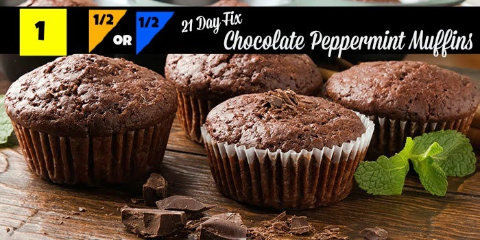 21 day day fix dessert, recipes,Chocolate Peppermint Muffins, Sara Stakeley, Sarastakeley.com, eat clean,