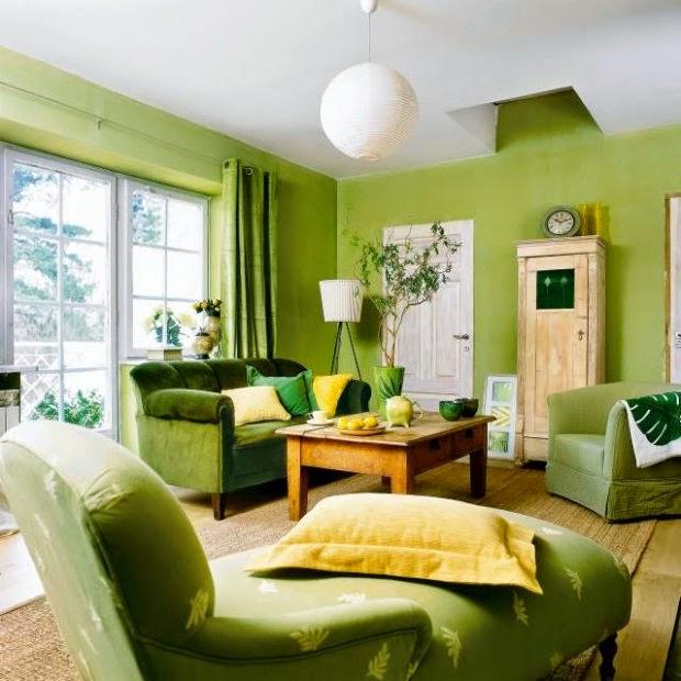 Fotos de sala en color verde salas con estilo - Decoracion con estilo ...