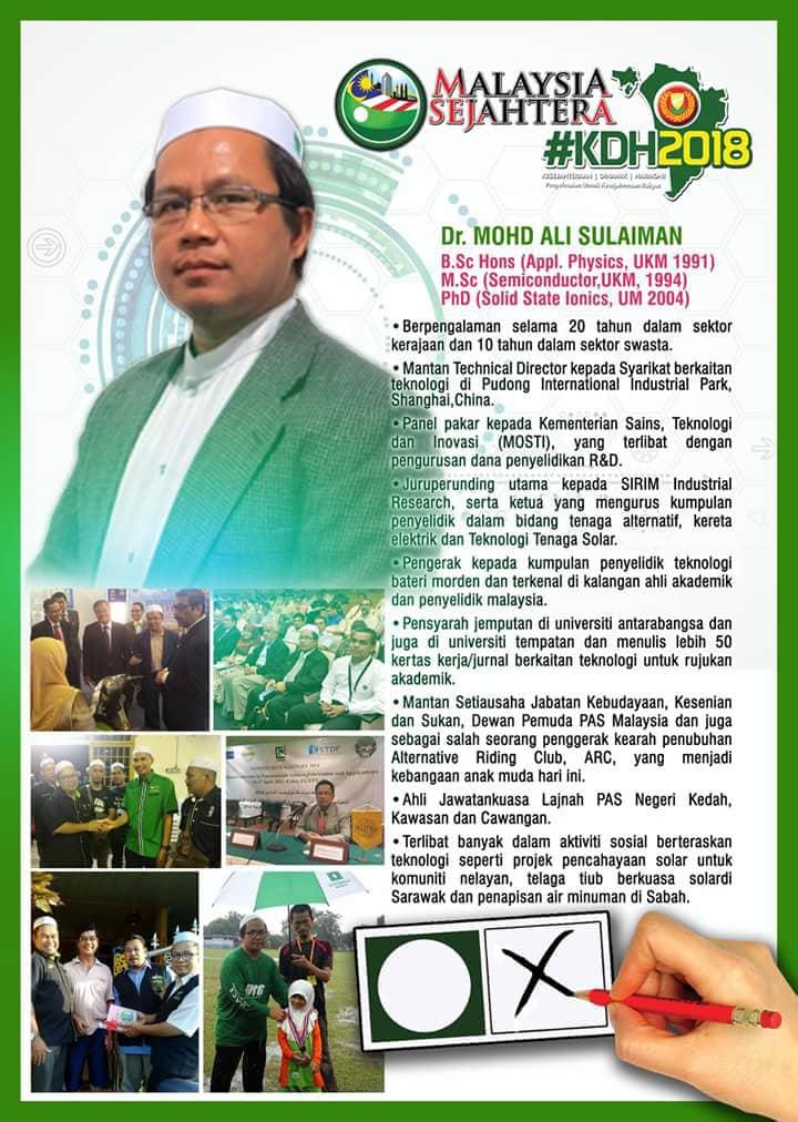 CALON PAS N25 BUKIT SELAMBAU : DR.MOHD ALI SULAIMAN