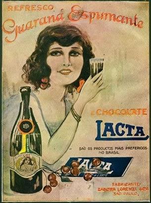 Guaraná Espumante Lacta - propaganda rara da década de 20.
