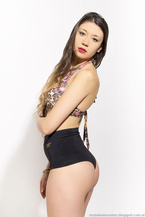 Moda verano 2016. Nerina Macarena Indumentaria verano 2016. Bikinis tiro alto 2016.