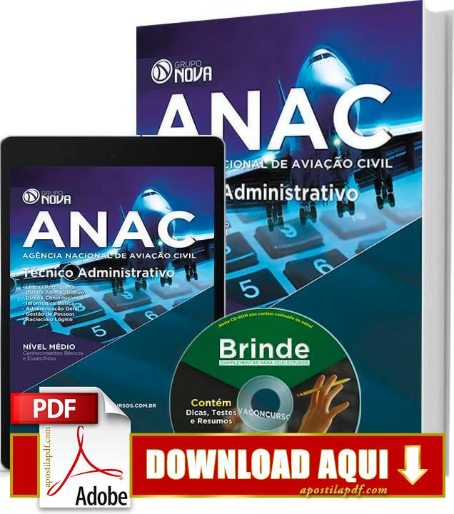 Apostila ANAC 2015 PDF Download Grátis Técnico Administrativo