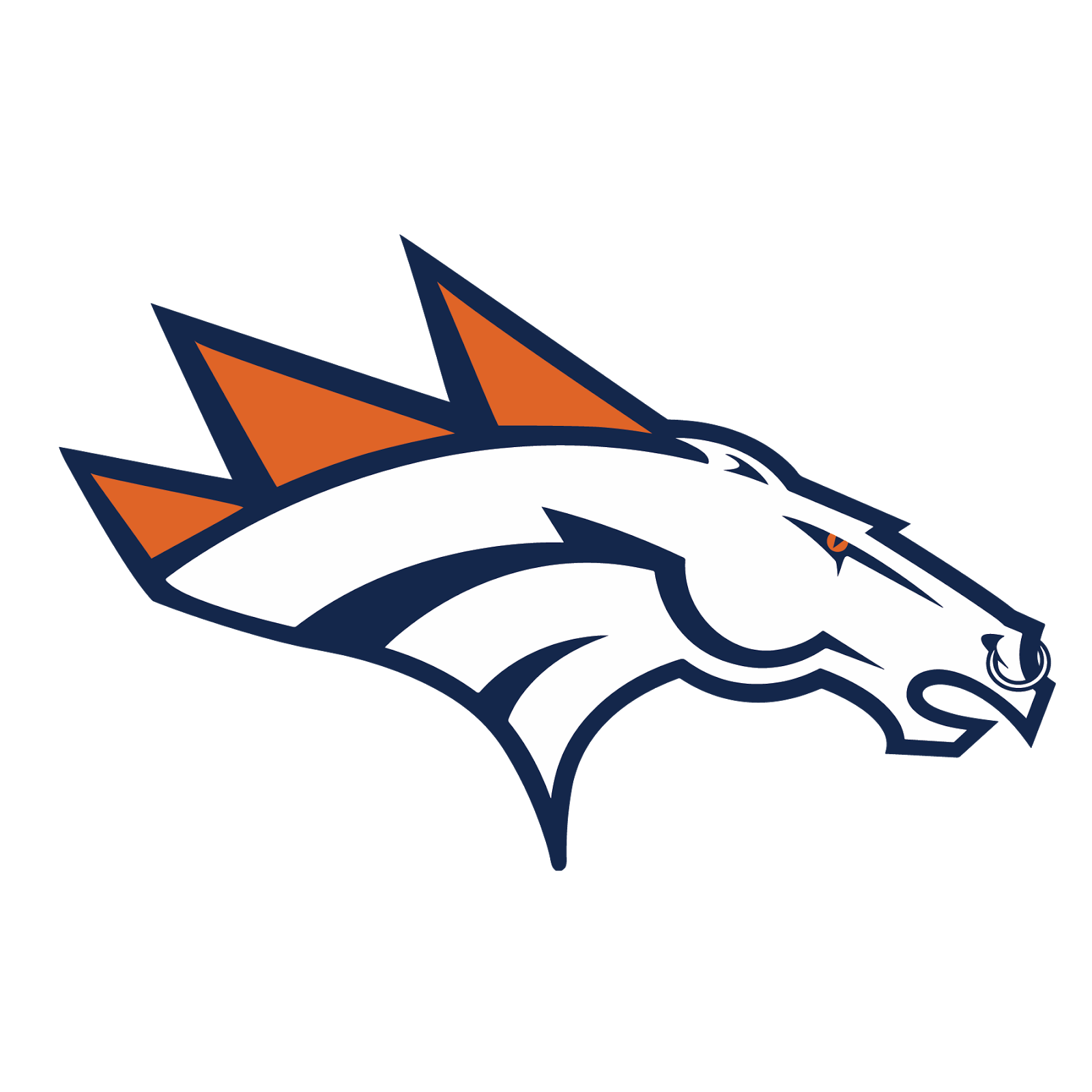 Denver Broncos, metal, logo, re-imagined
