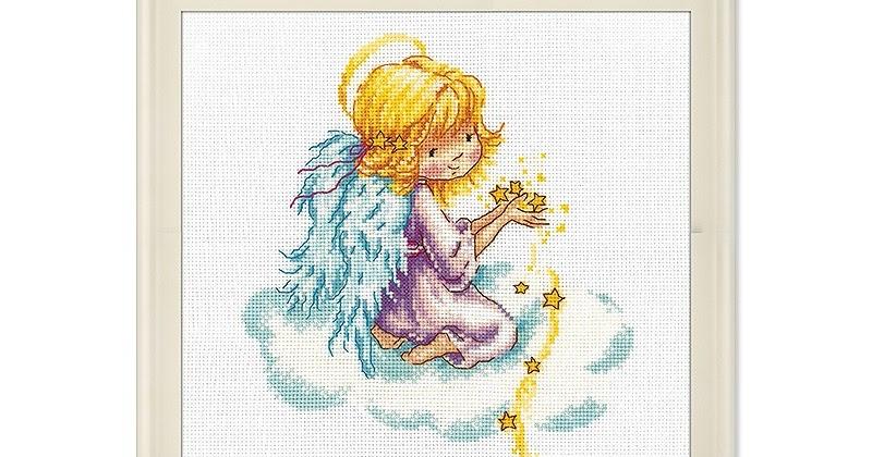 Звездный ангел схема вышивки крестом 36