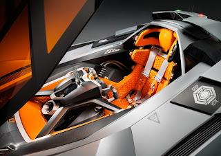Lamborghini Egoista inside