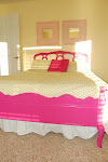 Pink headboard & footboard