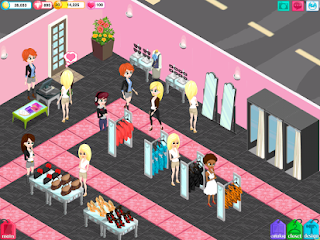 Screenshots of the Fashion Story: Spring Runway for Android tablet, phone.