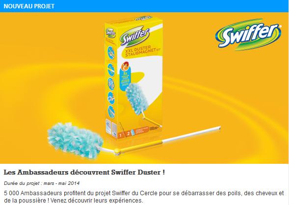 ... Le Cercle Ambassadeurs Envie de Plus : découvrez Swiffer Duster XXL