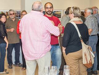 Residents, familiars i convidats a la inauguració