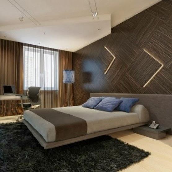 10 contoh desain kamar tidur dengan dinding yang di hias