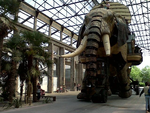 machine de l'île, l'éléphant, Nantes, parc, jardin, bullelodie