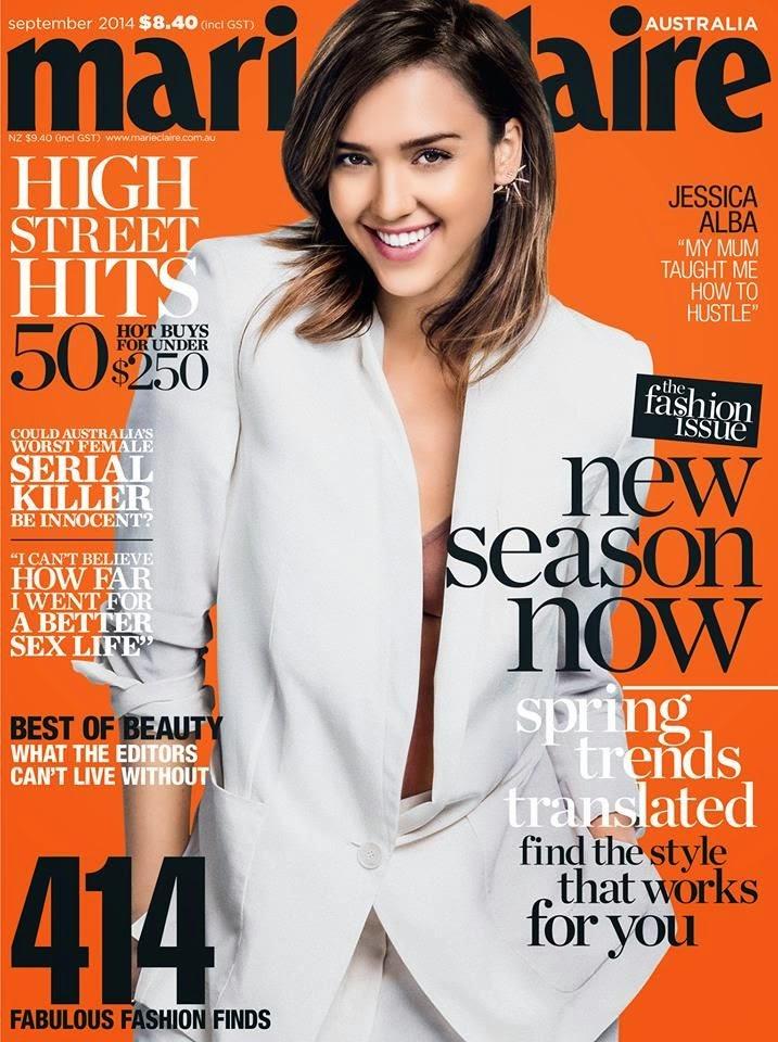 Jessica Alba - Marie Claire Magazine, Australia, September 2014