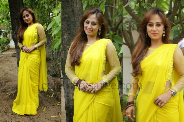 Maanu Lemon Yellow Saree
