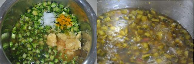 Boiling-Bittergourd-+-Vegetarian-food