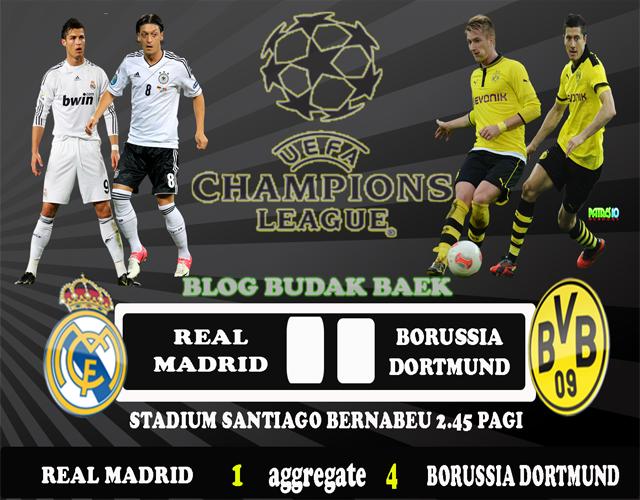 Keputusan Real Madrid vs Borussia Dortmund 1 Mei 2013 - UEFA Champions