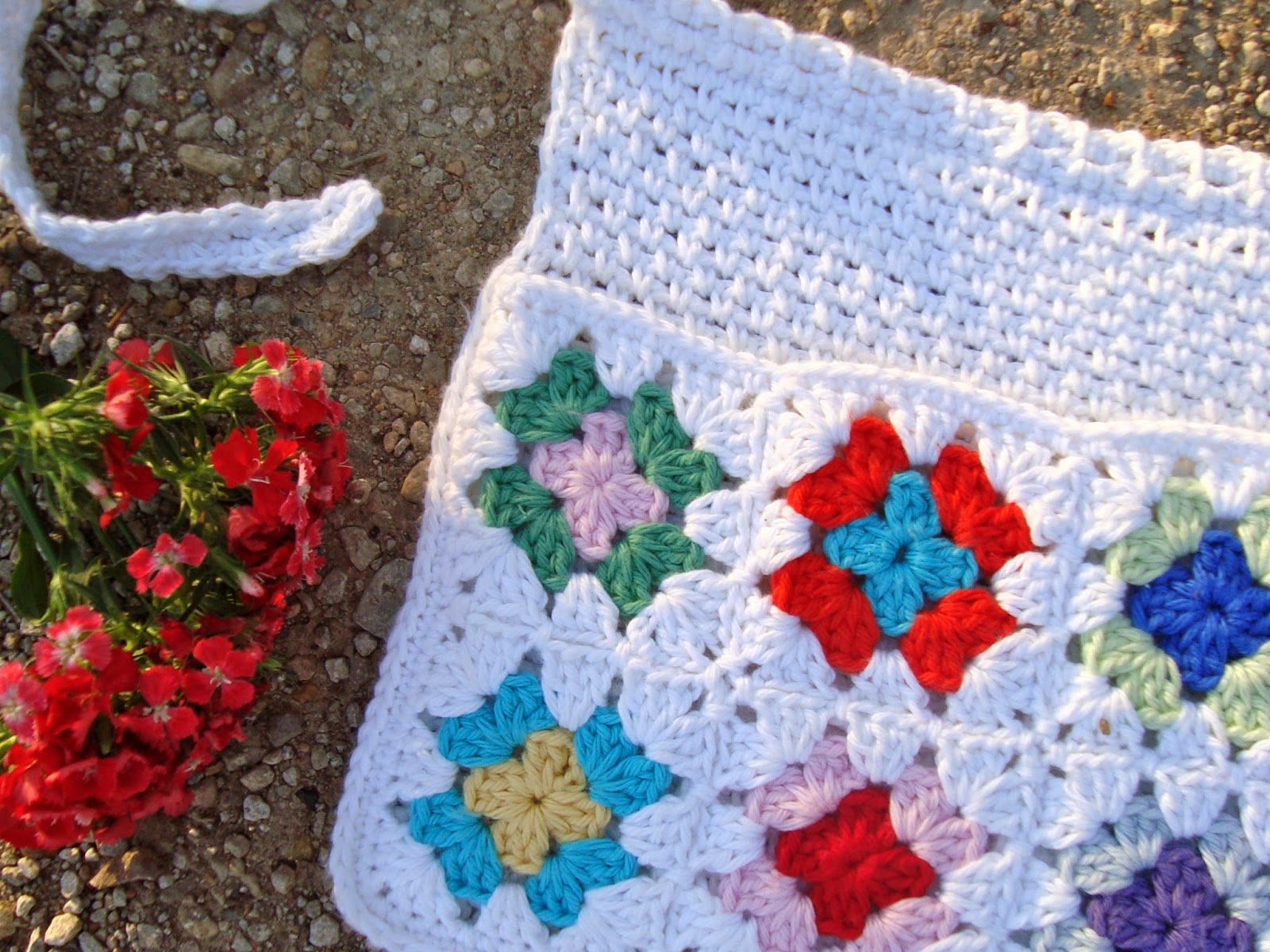 free crochet pattern granny square market apron