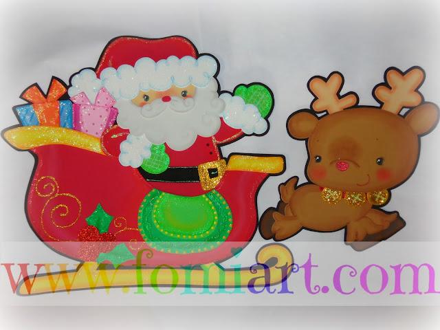 Santa Claus patrones en foamy