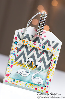 Swan Tag by Taheerah Atchia | Flirty Flamingos Stamp set by Newton's Nook Designs