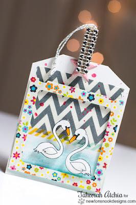 Swan Tag by Taheerah Atchia | Flirty Flamingos Stamp set by Newton's Nook Designs