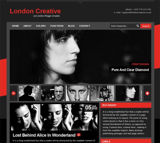 London Creative Blogger Template