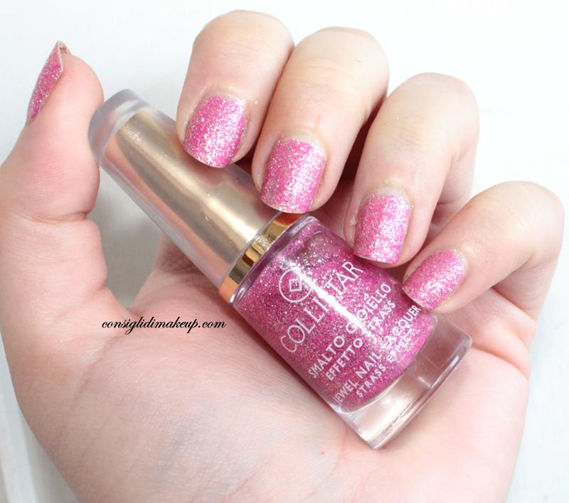 collistar smalto gloss effetto strass rosa strass