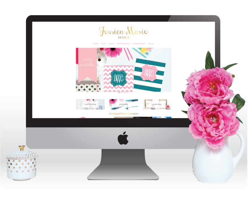 Website Update for www.JessicaMarieDesign.com
