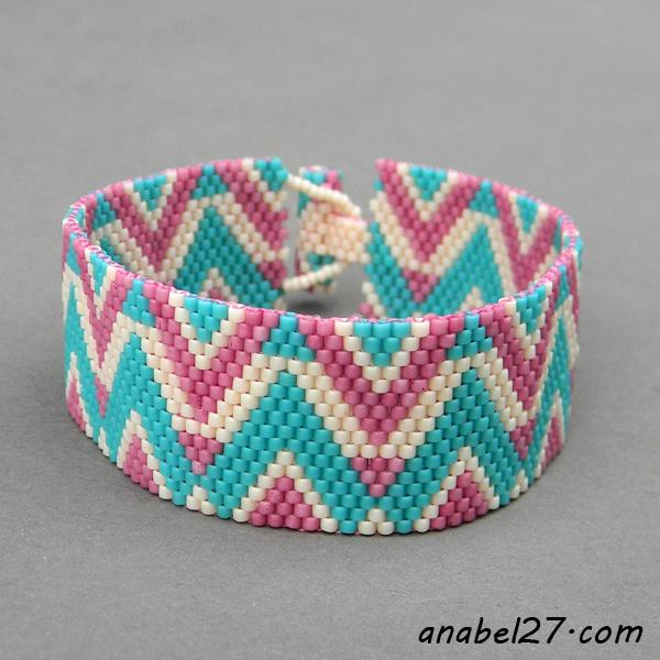 схемы браслетов мозаикой бисер