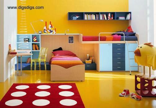 Cuarto infantil decorado estilo Contemporáneo