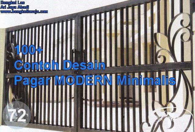 Desain pagar rumah modern minimalis, jasa pembuatan pagar modern minimalis surabaya sidoarjo.
