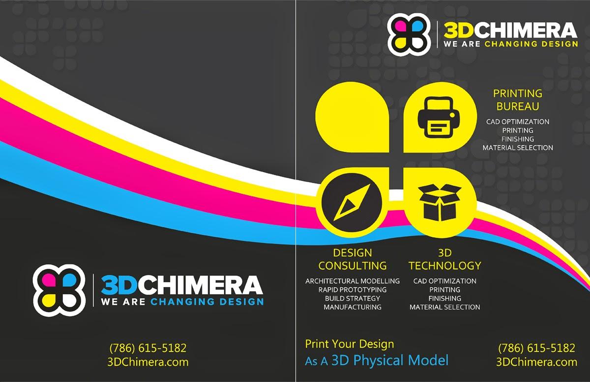 Ashish desk brochure design for a 3d printing comapny for 3d brochure design