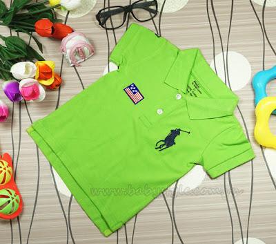 Áo Polo dành cho bé gái cực cute màu Cớm