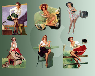 Free Wallpaper Vintage Pin Up Girl