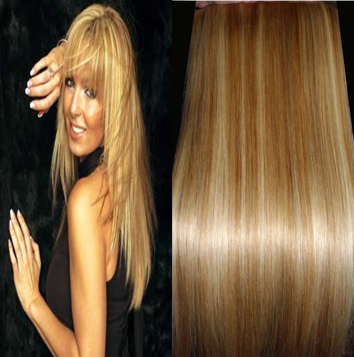 Caramel Blonde Human Hair Extensions 4