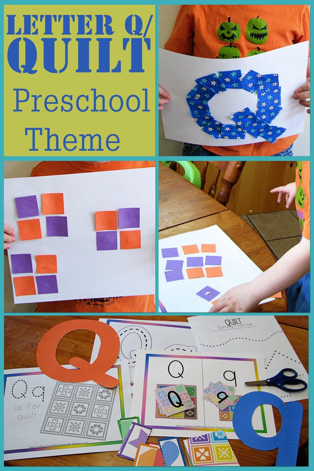 mommy u0026 39 s little helper  letter q  quilt preschool theme
