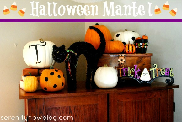 Halloween Mantel Decorating (Fake Mantel), from Serenity Now