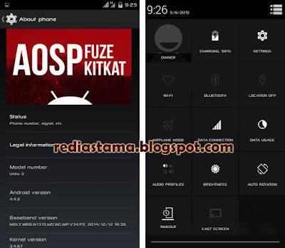 Custom ROM AOSP V2 Kitkat for Advan S5J+