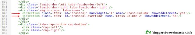 "Секции ""Cross-Column"" и ""Cross-Column 2"" в шаблоне Blogger"