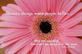 Flowers always make people better