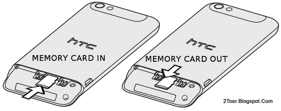 Insert  Remove microSD External Memory Card  HTC One V