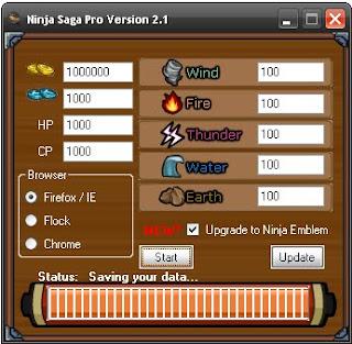 Ninja Saga Cheats and Hack v.2.79