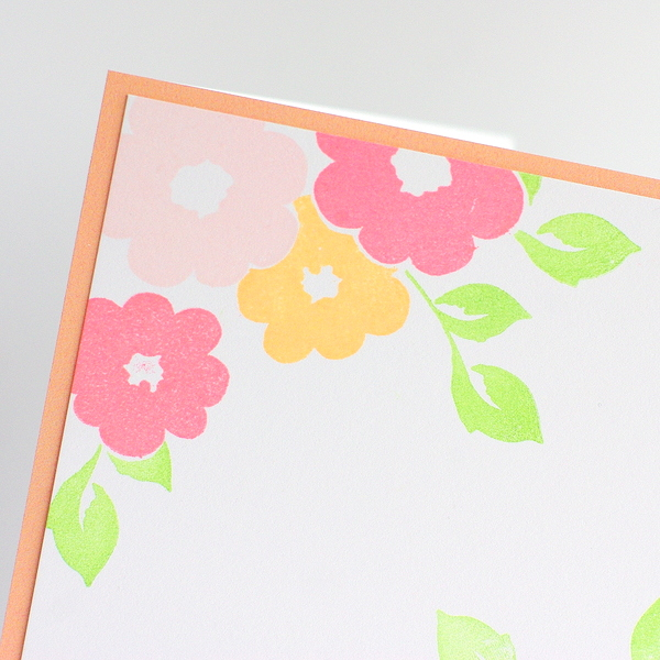 Leigh Penner Chickaniddy Crafts Stamped Flower Card close-up
