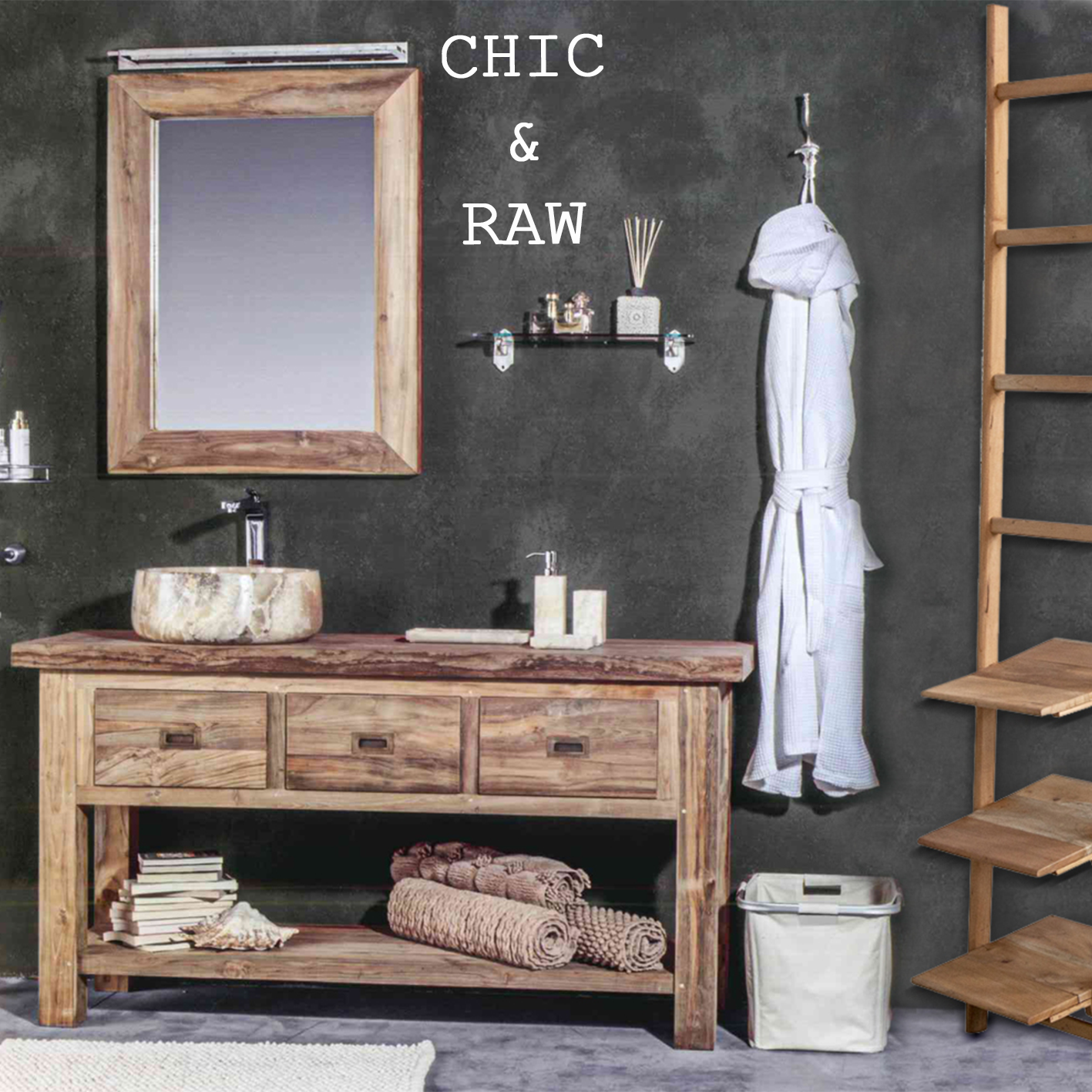 Makeyourhome il bagno in stile chic raw - Bagno industrial ...