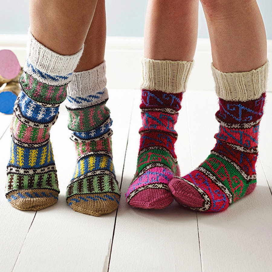 Ma Bicyclette - Buy Handmade - Clothing For Women - LOWIE- Turkish Colourful Knitted Socks