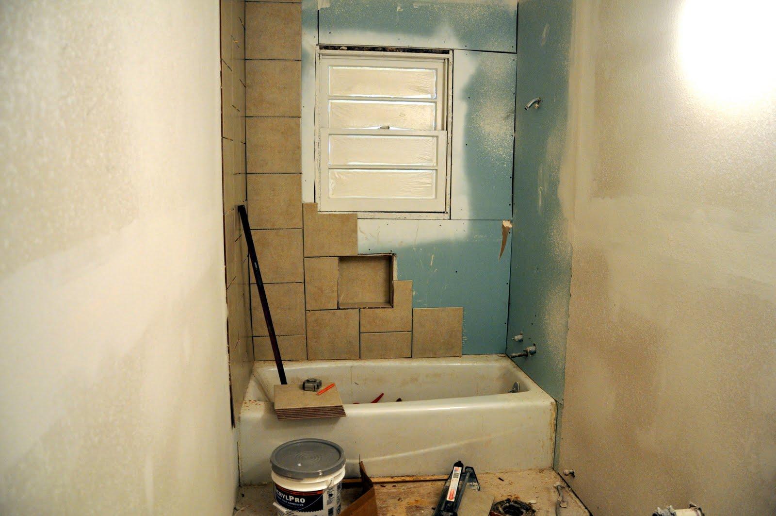 35th hall bathroom two thirty five designs for Hallway bathroom ideas